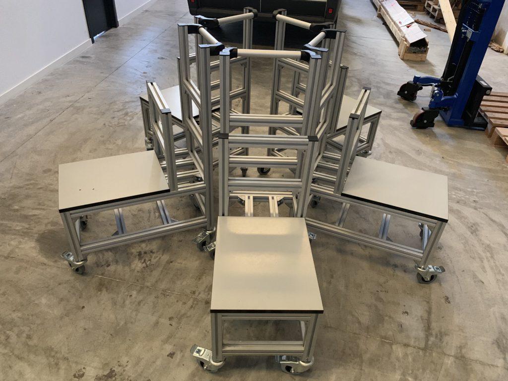Carritos perfil estructural aluminio Valencia