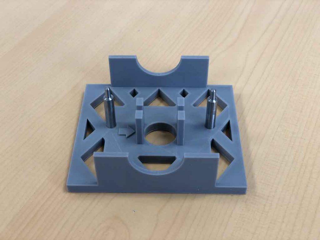 Aparejo raelizado en material PLA con impresión 3D para calibraciones