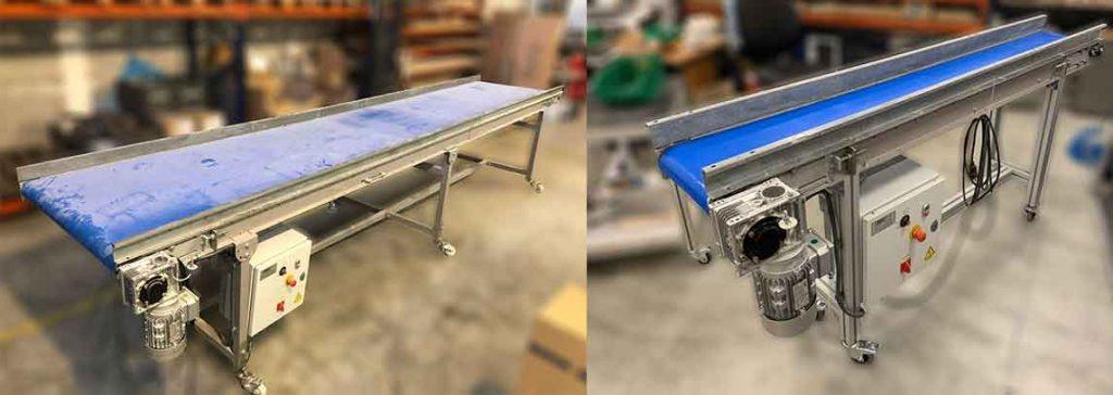 Trabajo de modificación de cinta transportadora con perfil tipo Bosch